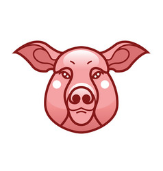 Color image of swine or pig head vector