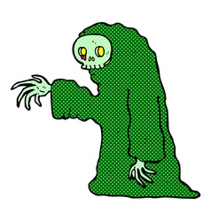 comic cartoon spooky halloween costume vector image
