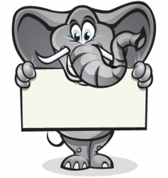 cute elephant holding sign vector image