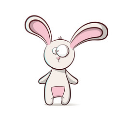 cute funny cartoon rabbit vector image