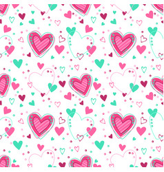 Cute seamless pattern with hearts vector