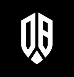 db logo monogram with emblem shield style design vector image