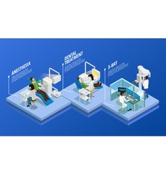 Dentistry Isometric Template vector