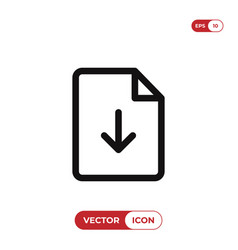 download icon vector image