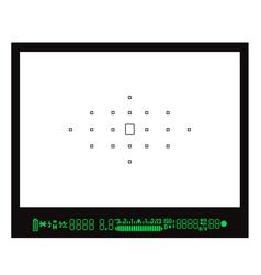 Focusing screen or viewfinder of dslr camera vector