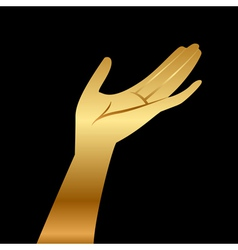 gold hand vector image