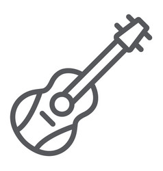 guitar line icon melody and play music vector image