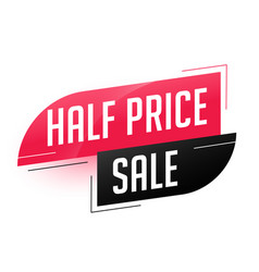 half price sale abstract template vector image