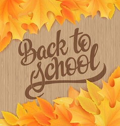 Hand drawn back to school lettering with realistic vector