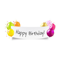 happy birthday banner transparent background vector image