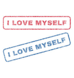 I love myself textile stamps vector