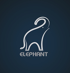 image an elephant design vector image