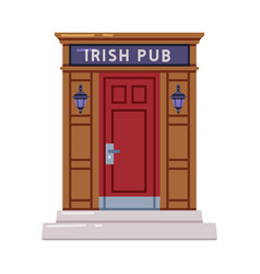 Irish pub or bar door entrance for buying whiskey vector