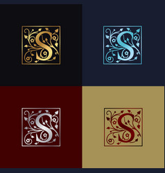 letter s decorative logo vector image