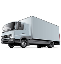 Light commercial truck vector