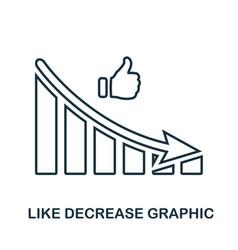 Like decrease graphic icon mobile app printing vector