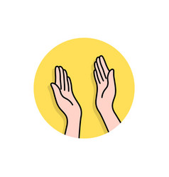 linear hands like highfive logo vector image