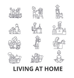 living at home help at home living room vector image