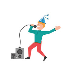 man party dance celebration vector image