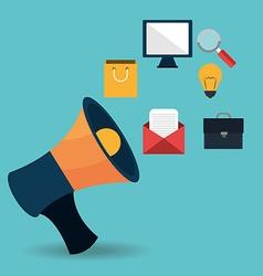 Marketing online vector