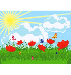 Meadow in early summer vector image