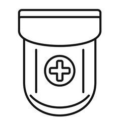 Medical pocket icon outline style vector