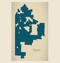 Modern city map - kansas missouri city of the usa vector