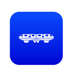 Monorail train icon digital blue vector