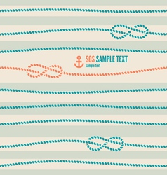 Nautical knot pattern vector