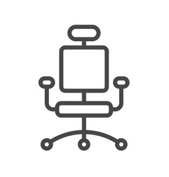 office chair thin line icon vector image
