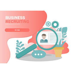 online recruitment concept vector image