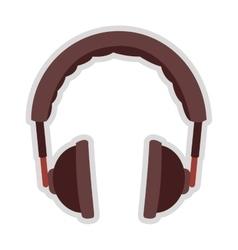 Padded headphones icon vector