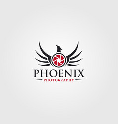 Photography logo - phoenix photo studio vector