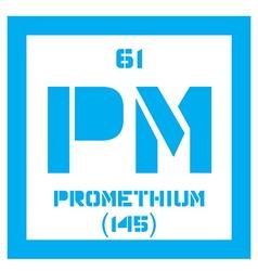 Promethium chemical element vector