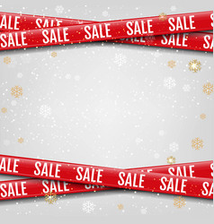 Promotional sale ribbon grey background vector