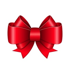 Red bow symbol vector