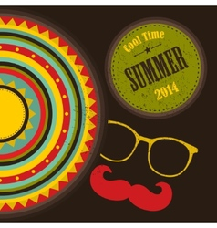 Retro cover for summer time vector image