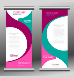 Roll up banner template vector