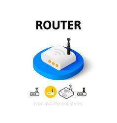 Router icon in different style vector image