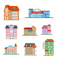 Set of a city buildings vector