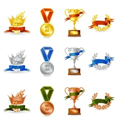 Set of awards and medals vector image