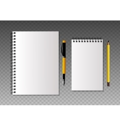 Set of realistic template notebooks vector