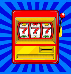 slot machine pop art style vector image