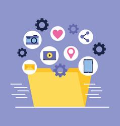 Social media digital vector