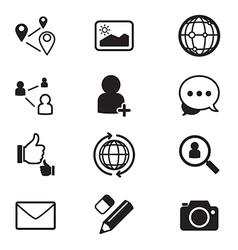 Social network icons set vector