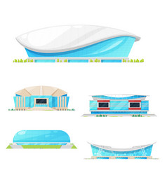 sport stadium and arena building icons vector image