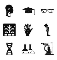 stature icons set simple style vector image