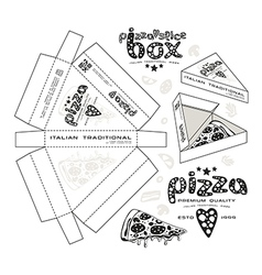 Stock design of boxes for pizza slice vector image