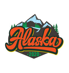 Template for badge with mountains vector