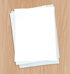 top view of white paper sheets vector image